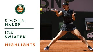 Simona Halep vs Iga Swiatek - Round 4 Highlights   Roland-Garros 2019