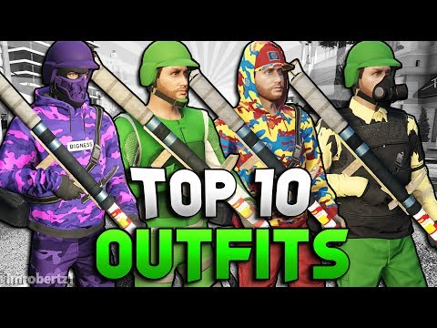 GTA 5 TOP 10 MODDED OUTFITS GTA 5 Online Best Tryhard Run and Gun Clothing Glitches (GTA 5 Glitches)
