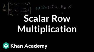 Linear Algebra: (correction) scalar muliplication of row