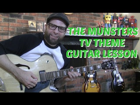 The Munsters theme guitar lesson w/tabs