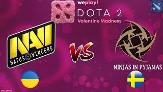 БИТВА за ВЫХОД в ФИНАЛ!   Na'Vi vs NIP (BO3 - СЕРИЯ)   WePlay! Dota 2 Valentine Madness