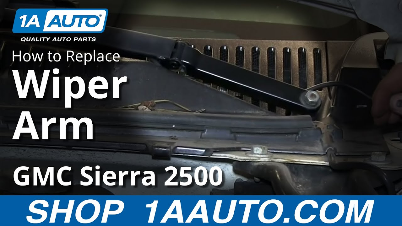 how to replace wiper arms 01 02 gmc sierra 2500 hd [ 1280 x 720 Pixel ]