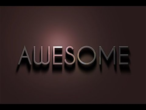 How to make AWESOME 3D Text Effect in Photoshop CS5, CS6 Photoshop
