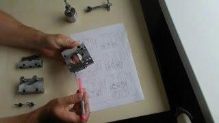 Кондуктор мебельный для сверления минификс, рафикс - Universal jig for minifix