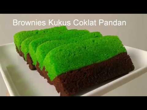 Resep Brownies Kukus Coklat Pandan Yang Lembut Dan Enak 3 Telur