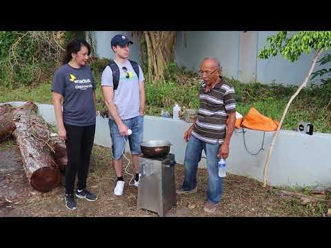 Angel, Community Leader, explaining benefits of GEC for communities in Puerto Rico