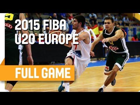 Spain v Lithuania - Group F - Full Game - U20 European Championship Men