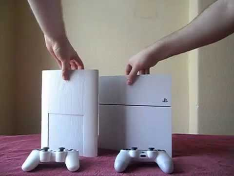 unboxing playstation 4 blanche comparaison ps3 blanche. Black Bedroom Furniture Sets. Home Design Ideas