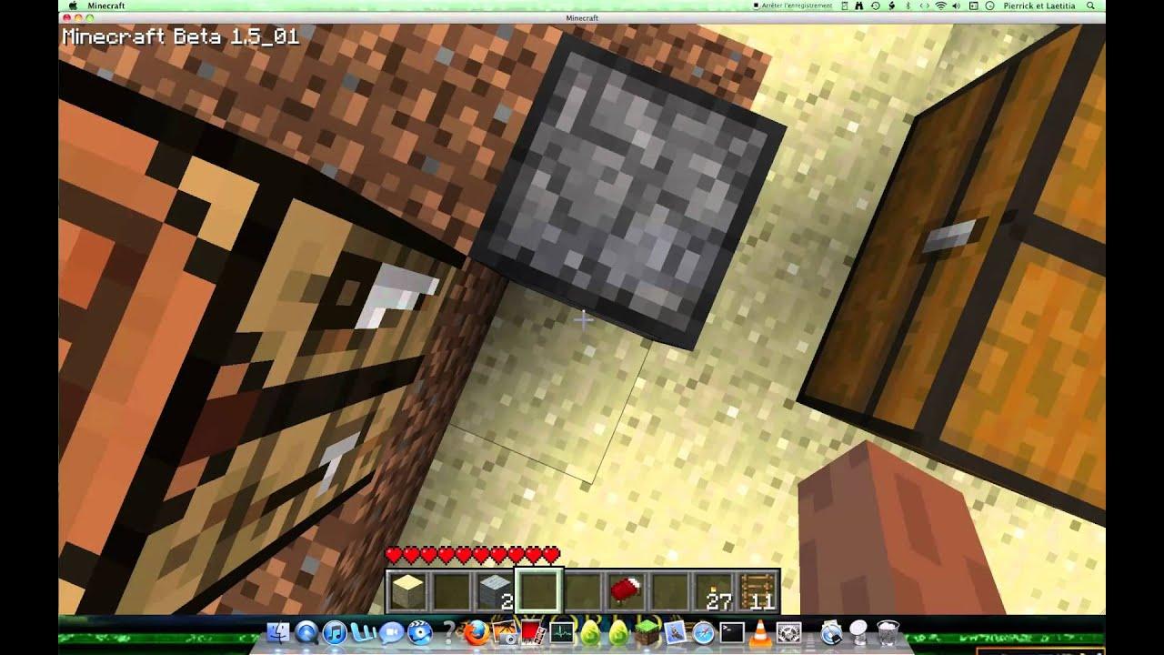 minecraft comment faire un lit youtube. Black Bedroom Furniture Sets. Home Design Ideas