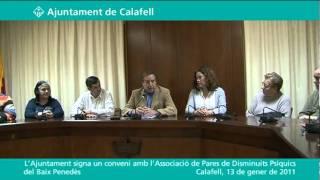 Conveni de l'Ajuntament amb l'associació comarcal de famílies