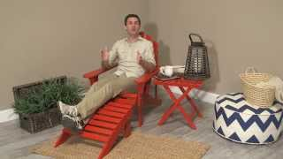 Coral Coast Red Painted Acacia Adirondack Ottoman - Product Review Video