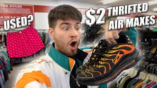 $2 NIKE AIR MAXES FOUND! Finally bought used undies. SWAG! Trip to the Thrift