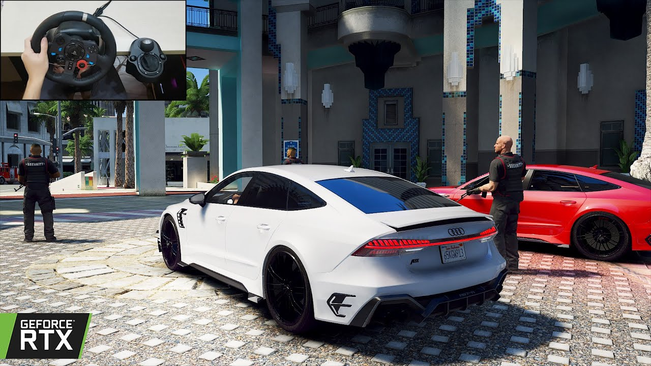 GTA 5 - Stealing an Audi RS7-R ABT - WILD RS 7 from ABT!