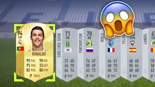 WTF RONALDO IN A SILVER PACK!😱 - TOP 10 LUCKIEST PACKS OF FIFA 18