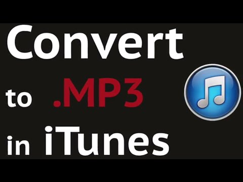 Covert to MP3 in iTunes