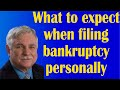 What to expect when filing bankruptcy personally