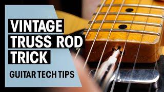 Fender Vintage Style Truss Rod Trick | Guitar Tech Tips | Thomann