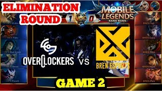 BREN ESPORTS (PH) vs OVERCLOCKERS (VN) GAME 2  | MSC 2019 | PLAYOFFS - LOWER BRACKET