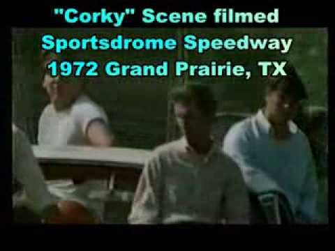 "1972 Scene from the movie ""Corky"" filmed at Sportsdrome Speedway"
