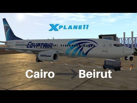 [X-Plane 11] Egypt Air 713 | Cairo - Beirut | Zibo 737 3.30s | VATSIM