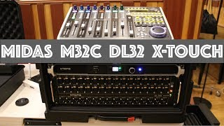 MIDAS M32C DL32 Behringer X-Touch Interconnect walkthrough in 4 minutes