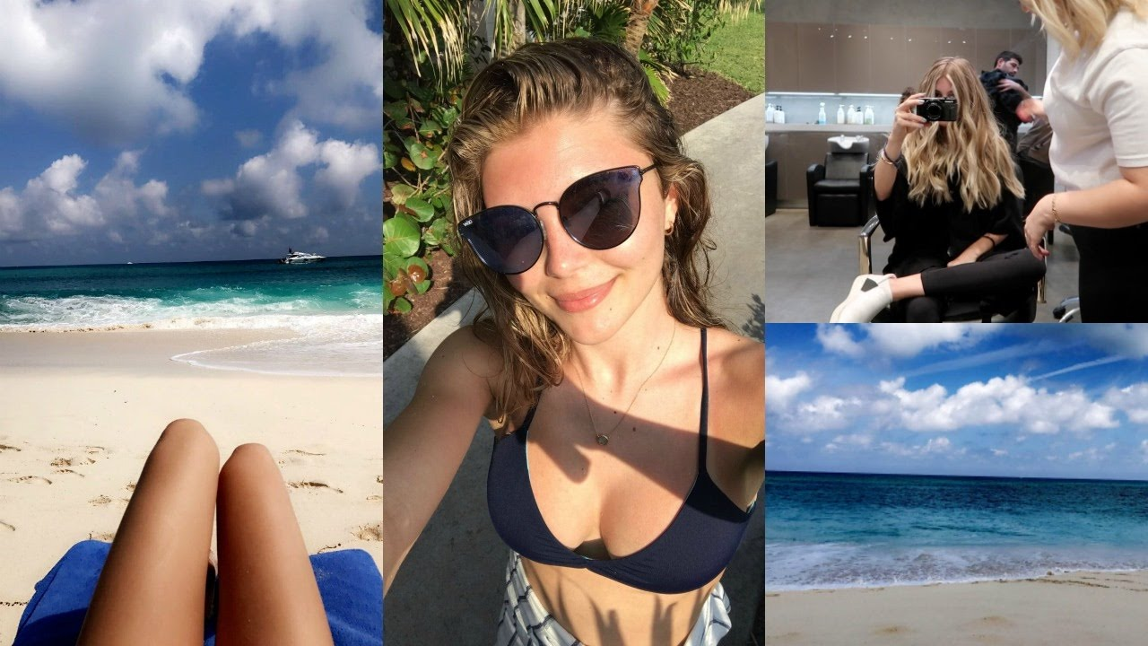 Weekly Vlog Dying My Hair Blonde Amp Traveling To The Bahamas L Olivia Jade Youtube