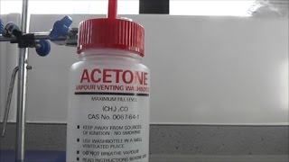 Acetone and Methanol plus dry ice
