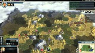 Civilization V G&K Multiplayer Game 020 Teamer 2v2: Austria (Gameplay/Commentary) Part 1/3