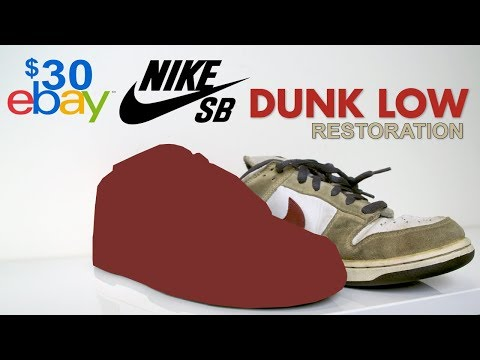 Restoring $30 Suede Nike SB's Found On EBay! Vick Almighty