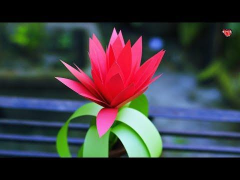 How To Make Paper Bromeliad Flower | DIY Bromeliad Centerpieces