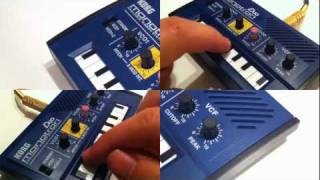 KORG monotron x DUO x DELAY : The song features all the monotrons !