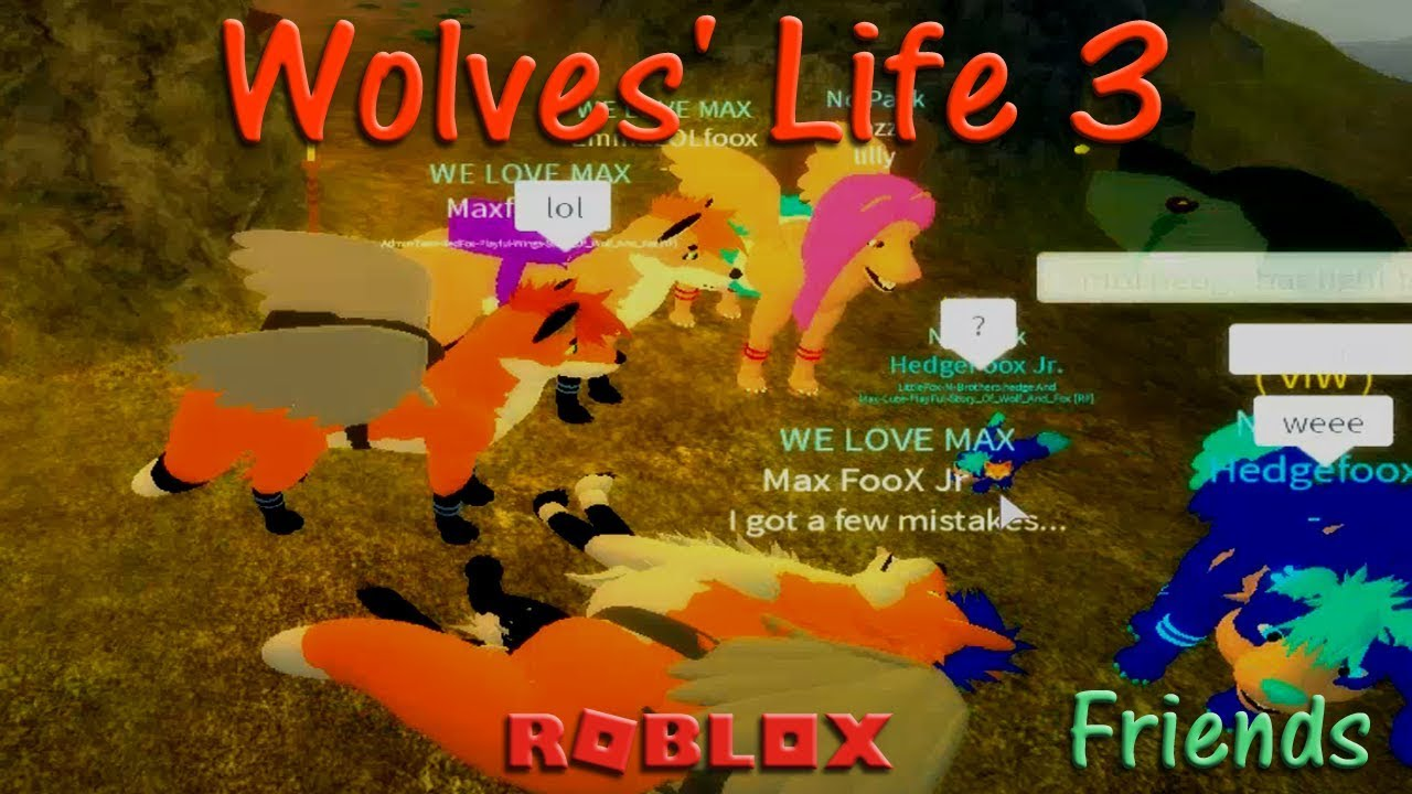 Roblox - Wolves' Life 3 - Friends #8 - HD