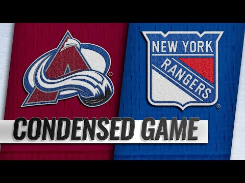 10/16/18 Condensed Game: Avalanche @ Rangers