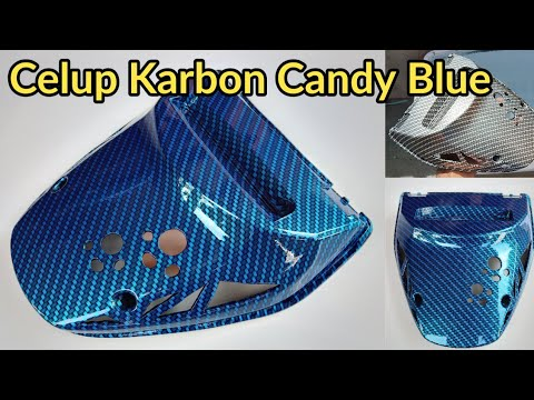 Water Transfer Film Carbon Candy Blue Samurai Paint