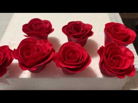How To Make Fondant Roses! || Easy Fondant Rose Tutorial
