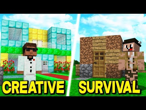 CREATIVE vs SURVIVAL IN MINECRAFT!