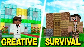 CREATIVE vs SURVIVAL IN MINECRAFT!