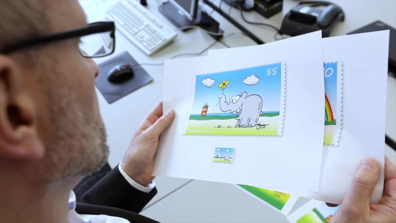 Briefmarke Bunter Gruß Vom Ottifanten