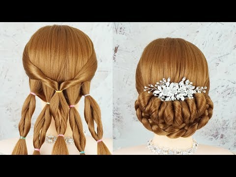 New Amazing Wedding Hairstyle With Trick - Party Hairstyles Simple | Easy Hairstyles For Functions