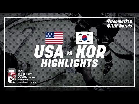 Game Highlights: United States vs Korea May 11 2018 | #IIHFWorlds 2018