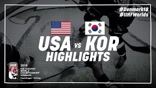 Game Highlights: United States vs Korea May 11 2018 | #IIHFWorlds 2018