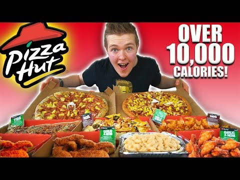 The ULTIMATE PIZZA HUT MENU CHALLENGE! | 10,000+ Calories | EPIC CHEAT MEAL