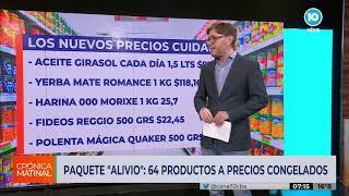 """PAQUETE """"ALIVIO"""": HABRÁ 64 PRODUCTOS A PRECIOS CONGELADOS"""
