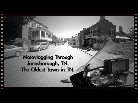 Motovlogging through Jonesborough TN oldest town in the state of TN