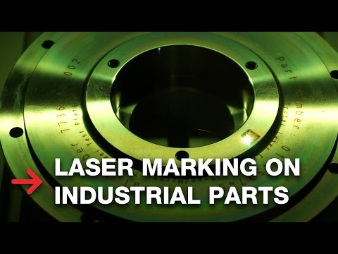 Laser Marking Industrial Parts | Anealing Steal
