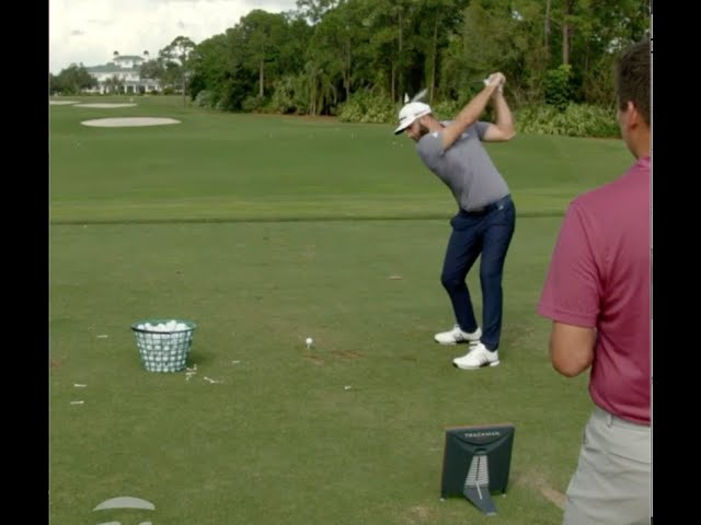 DJ Hits it HOW FAR Left-Handed? | TaylorMade Golf