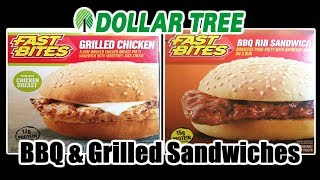 Dollar Tree BBQ Rib and Grilled Chicken Sandwiches - WHAT ARE WE EATING?? - The Wolfe Pit