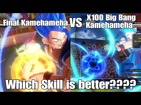 Xenoverse 2 Skill Test Final Kamehameha VS. X100 Big Bang Kamehameha