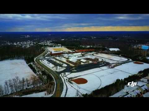 Flying DJI mavic pro in the snow