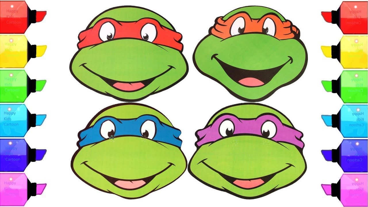 Teenage Mutant Ninja Turtles Step By Step Coloring Pages For Kids ...
